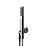 Waterworks .25 Handshower on Hook with Metal Handle in Burnished Nickel