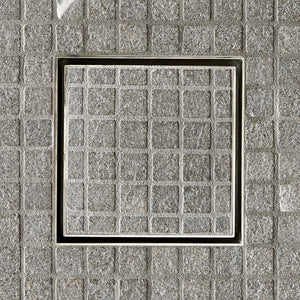 "Waterworks Universal Tile-In Shower Drain 6"" x 6"" in Burnished Nickel"