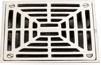 Waterworks Universal Shower Drain Cover in Nickel