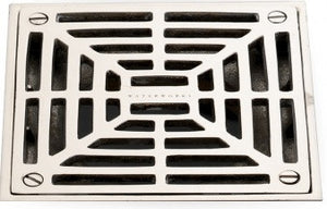 Shower Drain Cover in Nickel