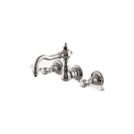Waterworks Julia High Profile Wall Mounted Lavatory Faucet in Nickel