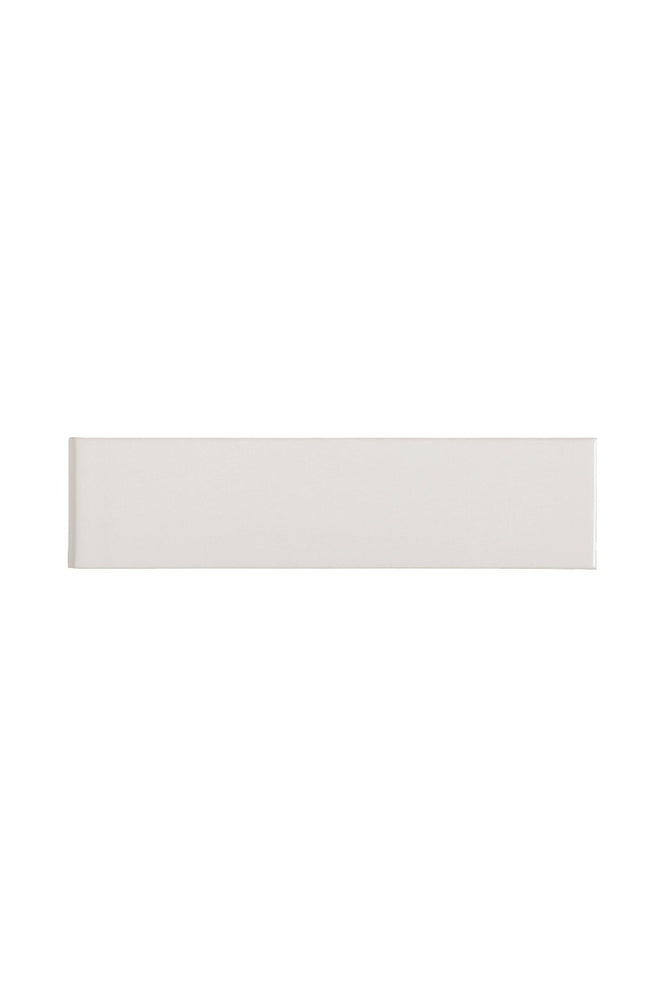 Waterworks Cottage Field Tile 3 x 12 Bullnose Single (Short) in Charade Glossy Solid