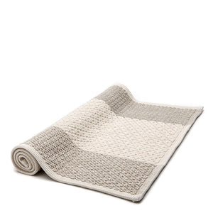 "Waterworks Aquidneck Colorblock 21"" x 39"" Bath Rug in Cream/Natural For Sale Online"