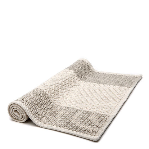"Waterworks Aquidneck Colorblock Bath Rug 21"" x 39"" in Natural"