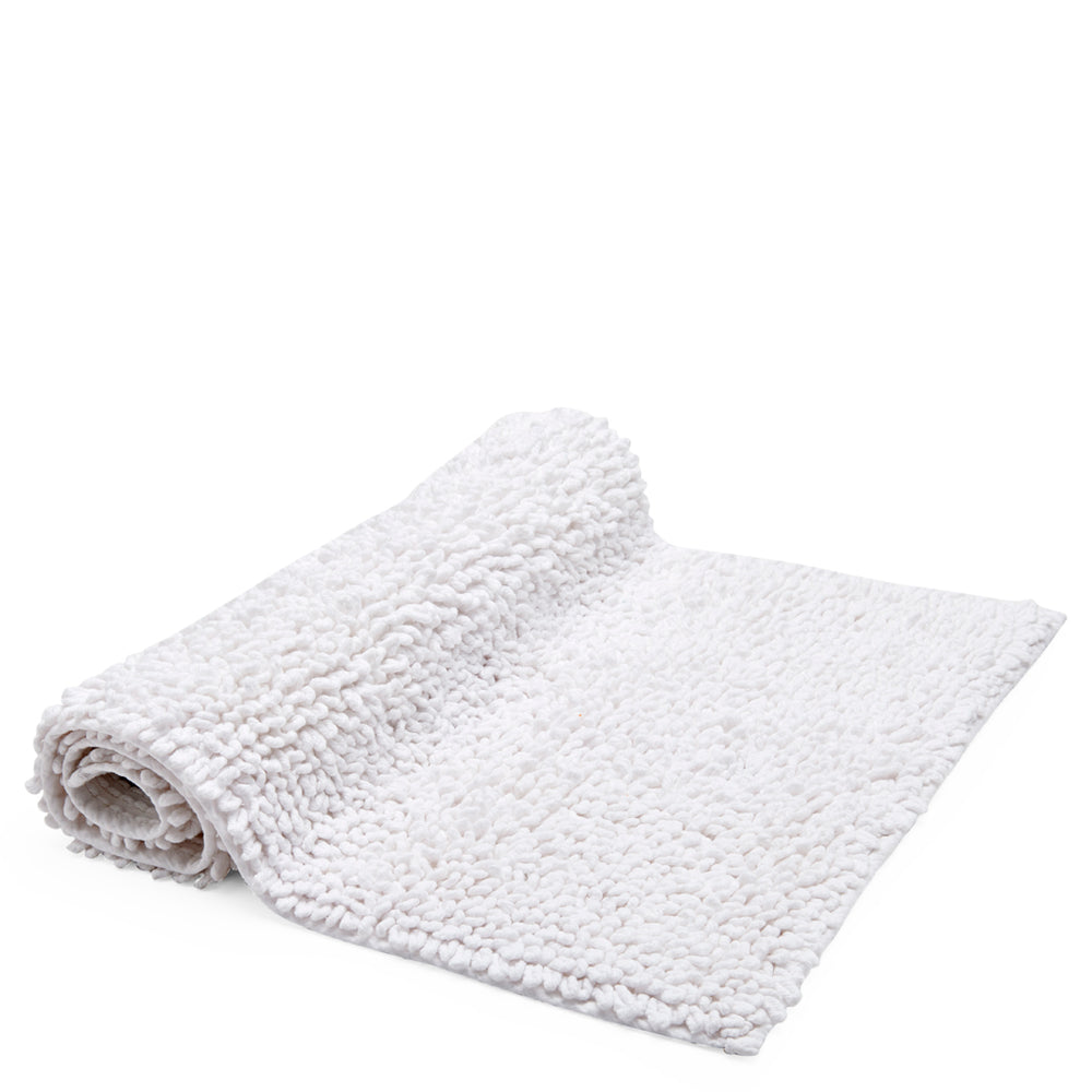 "Waterworks Loop Cotton Rug 23"" x 23"" in White"
