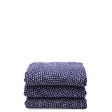 Waterworks Indigo Cotton Blend Dot Wash Towel Blue / White