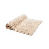 "Waterworks Loop Cotton Rug 23"" x 23"" in Ivory"