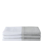 Waterworks Aquidneck Guest Towel in White/Gray