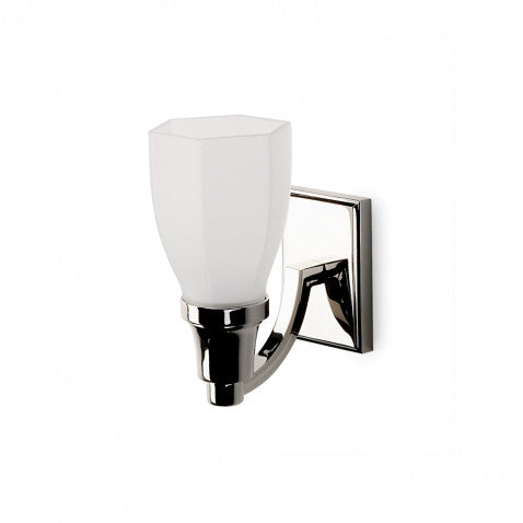 Waterworks Easton Single Arm Sconce in Brushed Nickel