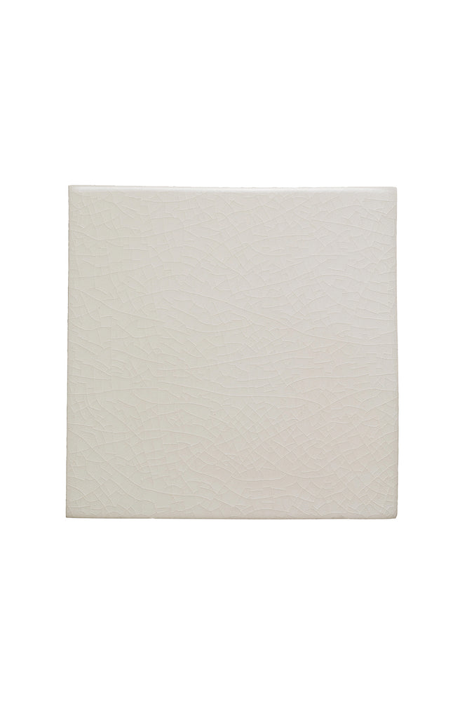 "Waterworks Architectonics Handmade Field Tile 4 1/2"" x 4 1/2"" in Mykonos Glossy Solid"
