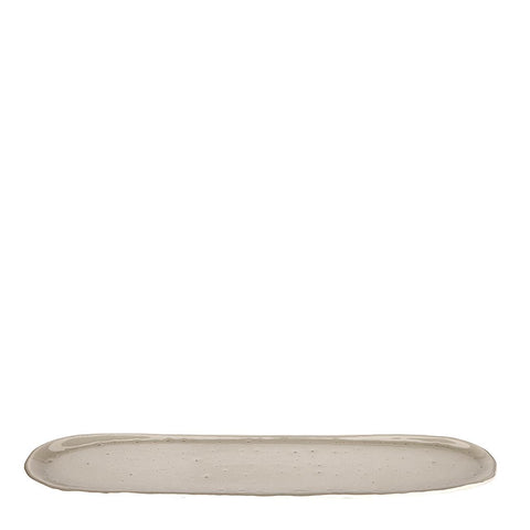 Battuto Long Oval Tray in Gray