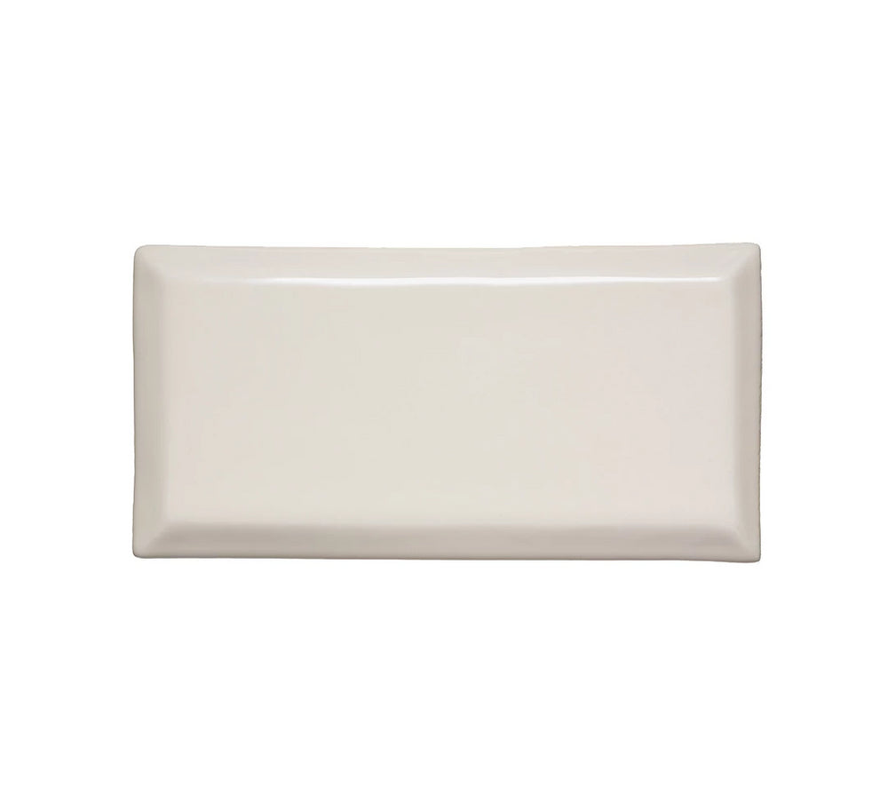 "Waterworks Archive Field Tile 3"" x 6"" Beveled in White Glossy Solid"
