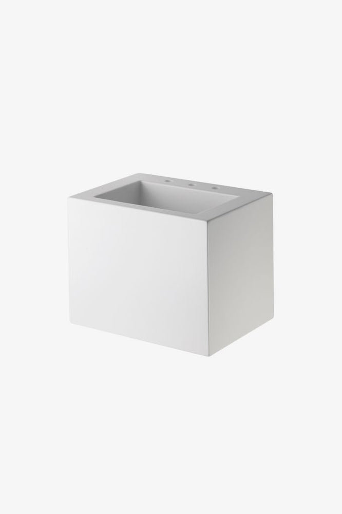 Waterworks .25 Lithic Rectangular Wall Mounted Single Sink for Three Hole Faucet
