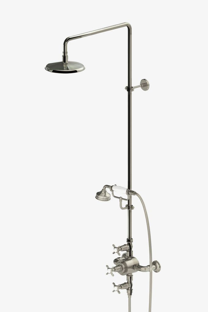 "Waterworks Easton Classic Exposed Thermostatic System with 8"" Shower Rose in Chrome"