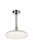 Isla Ceiling Mounted Showerhead, Arm and Flange in Burnished Nickel
