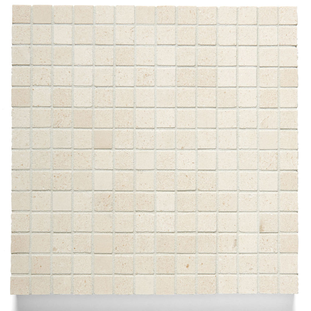 Waterworks Studio Stone 2cm Stacked Mosaic Tile in Dorset Cream Polished