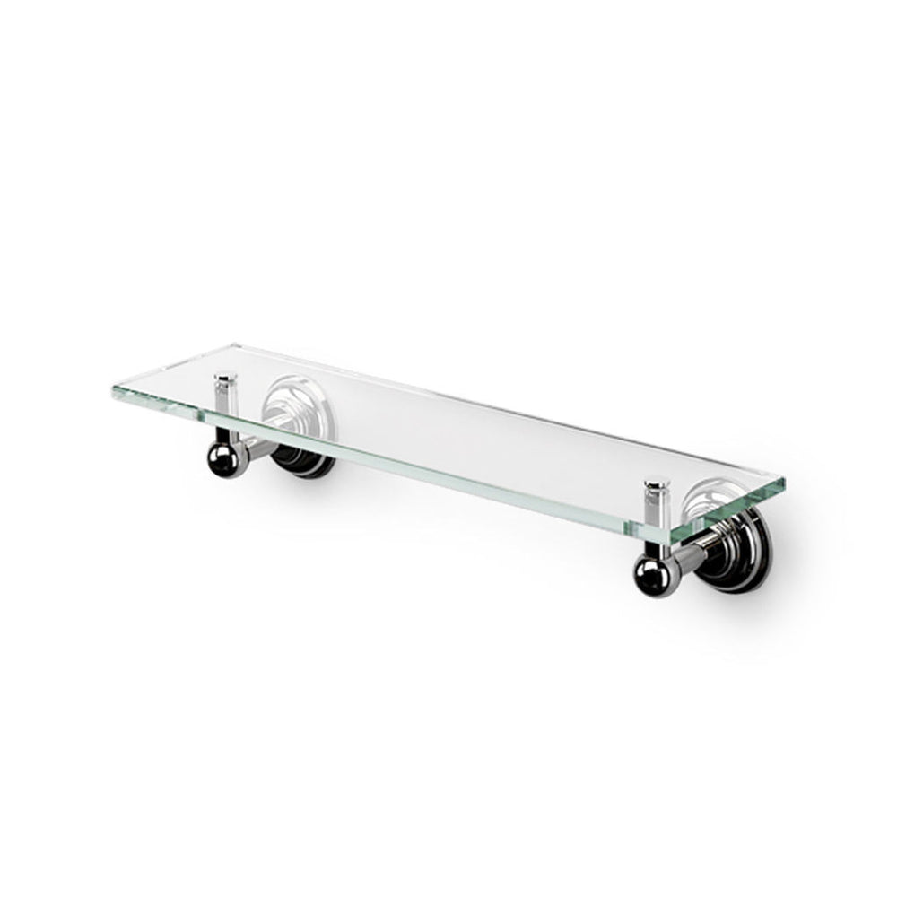 "Waterworks Aero Retro 18"" Single Tier Shelf in Chrome"