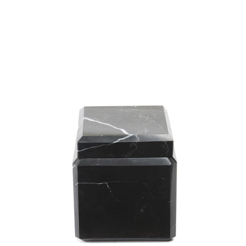 Waterworks Black Marble Covered Jar