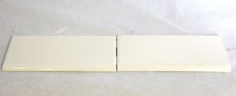 Waterworks Architectonics Field Tile 3 x 6 Bullnose Single (Long) in Off White Glossy