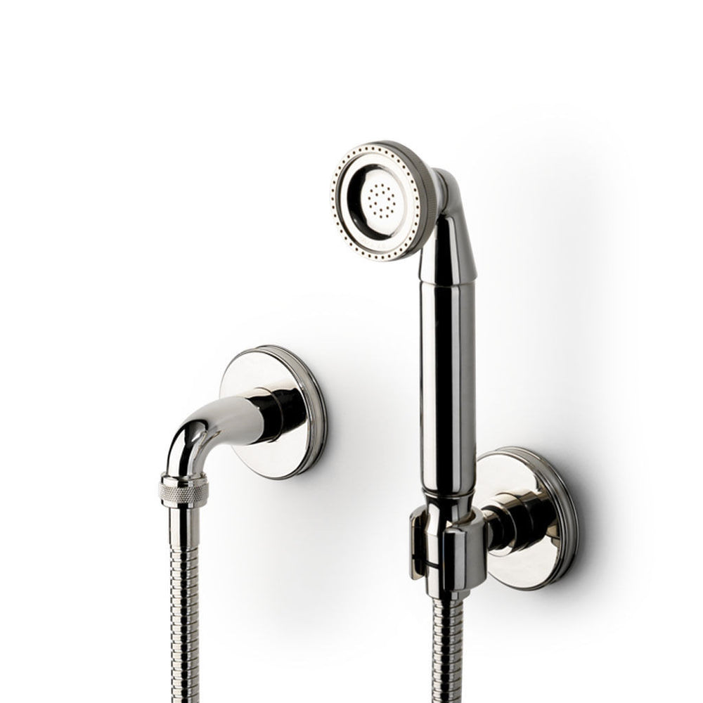 Waterworks Boulevard Handshower on Hook with Metal Handle in Matte Gold