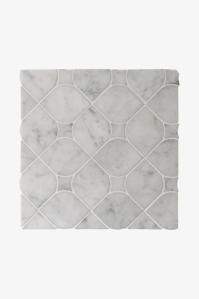 Waterworks Studio Stone Stella Mosaic in Gray Carrara Polished
