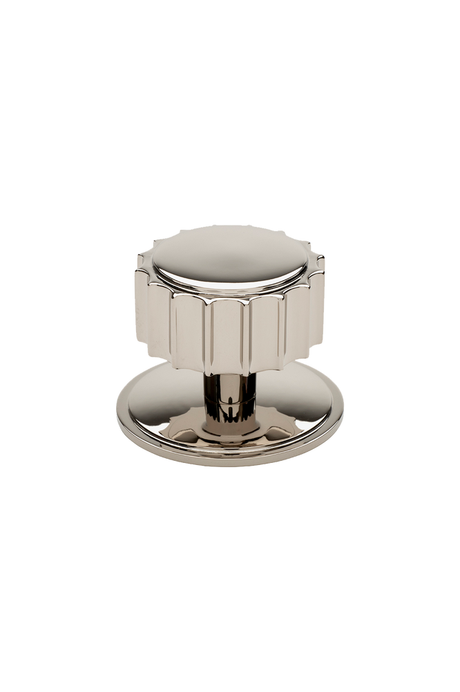 "Waterworks Portico 1 1/2"" Knob in Matte Nickel"