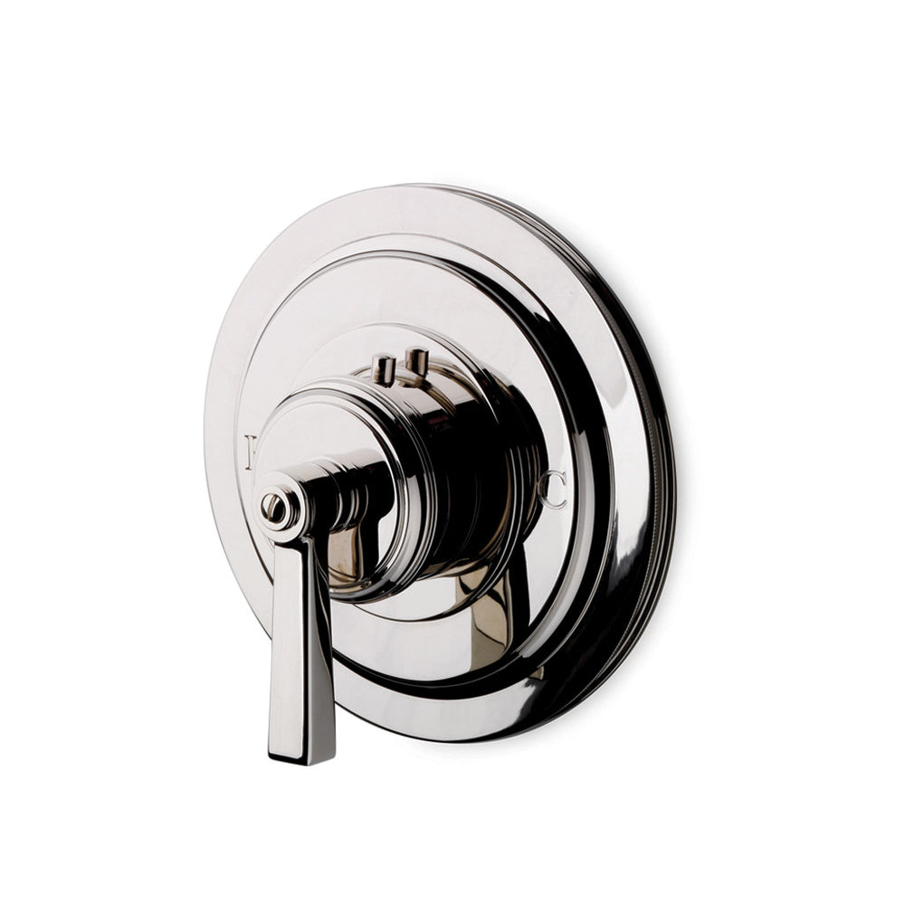 Waterworks Aero Thermostatic Control Valve Trim in Nickel