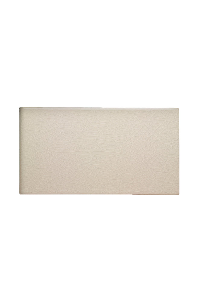 "Waterworks Architectonics Handmade Field Tile 4 1/4"" x 8"" Bullnose Single (Short) in Mykonos Glossy Solid"