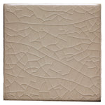 "Waterworks Architectonics Handmade Field Tile 6"" x 6"" in Creamware Glossy Crackle"