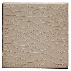 "Waterworks Architectonics Handmade Field Tile 6"" x 6"" in Creamware Glossy Crackle For Sale Online"