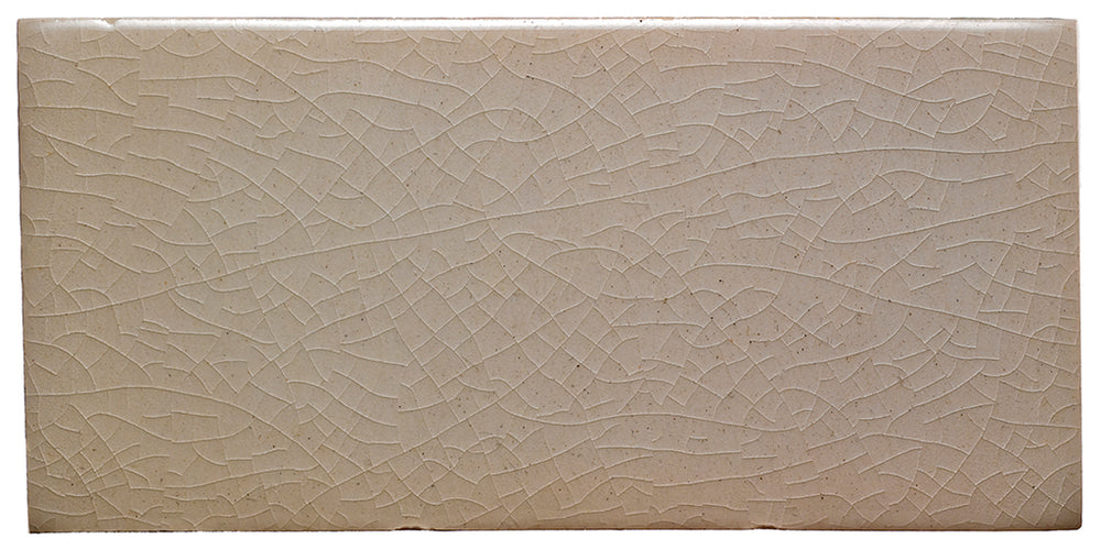"Waterworks Architectonics Handmade Universal Standard Base 6"" x 6"" in Pumice Glossy Crackle"