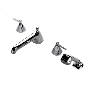 Waterworks Ambit Low Profile Tub Filler With Handshower in Chrome