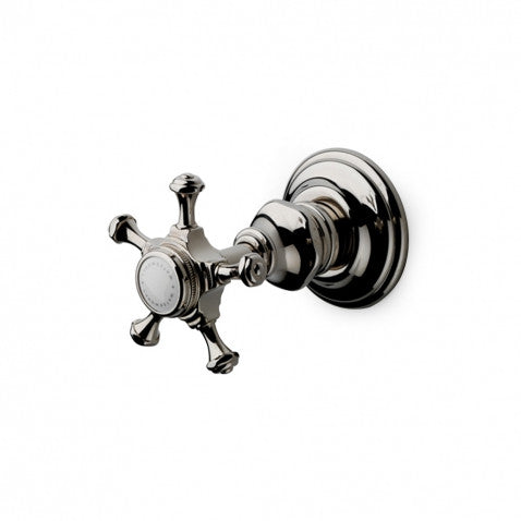 Amelie Volume Control with Cross Handle in Brushed Nickel