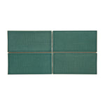 "Waterworks Architectonics Handmade Field Tile 3"" x 6"" in Sage Glossy Crackle"