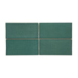 Waterworks Architectonics Field Tile 3 x 6 in Green Glossy Crackle
