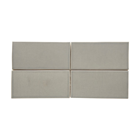 Waterworks Architectonics Field Tile 4 1/4 x 8 Bullnose Single (Short) in Gray Matte