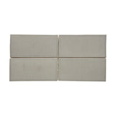 Waterworks Architectonics Field Tile 3 x 6 Bullnose Single (Long) in Gray Matte