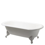 Waterworks Beaumont Freestanding Cast Iron Bathtub with Cast Iron Claw Feet