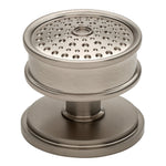 "Waterworks Brogue 1 1/2"" Knob in Matte Nickel"