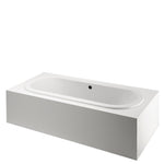 "Classic 72"" x 37"" x 22"" Oval Bathtub in White"