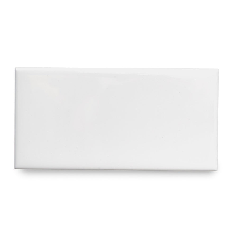 "Waterworks Campus Field Tile 3"" x 6 Bullnose Corner (Left) in White Matte Solid"
