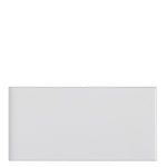 "Waterworks Campus Field Tile 3"" x 6"" Bullnose Single (Short) in White Glossy Solid"