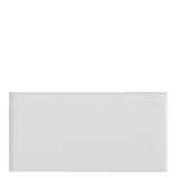 Campus Field Tile 3 x 6 Bullnose Single (Short) in White Glossy Solid