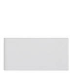 "Waterworks Campus Field Tile 3"" x 6"" Bullnose Single (Long) in White Glossy Solid"