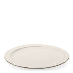 Waterworks Cortona Round Platter in Cream