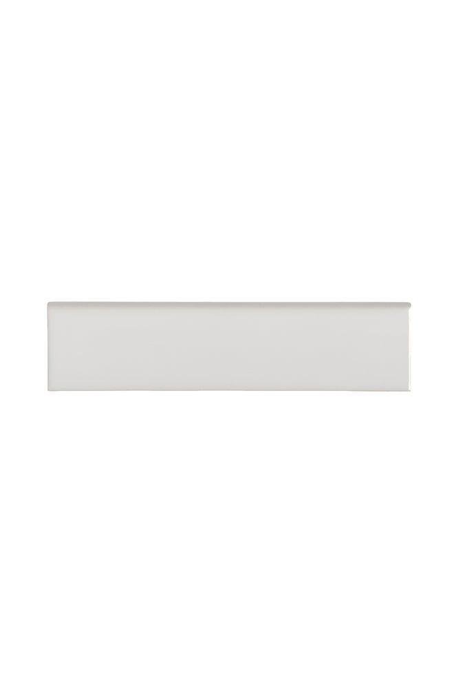 Waterworks Cottage Field Tile 3 x 12 Bullnose Single (Long) in Magnus Glossy Solid