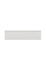 Cottage Field Tile 3 x 12 Bullnose Single (Long) in Canvas Glossy Crackle