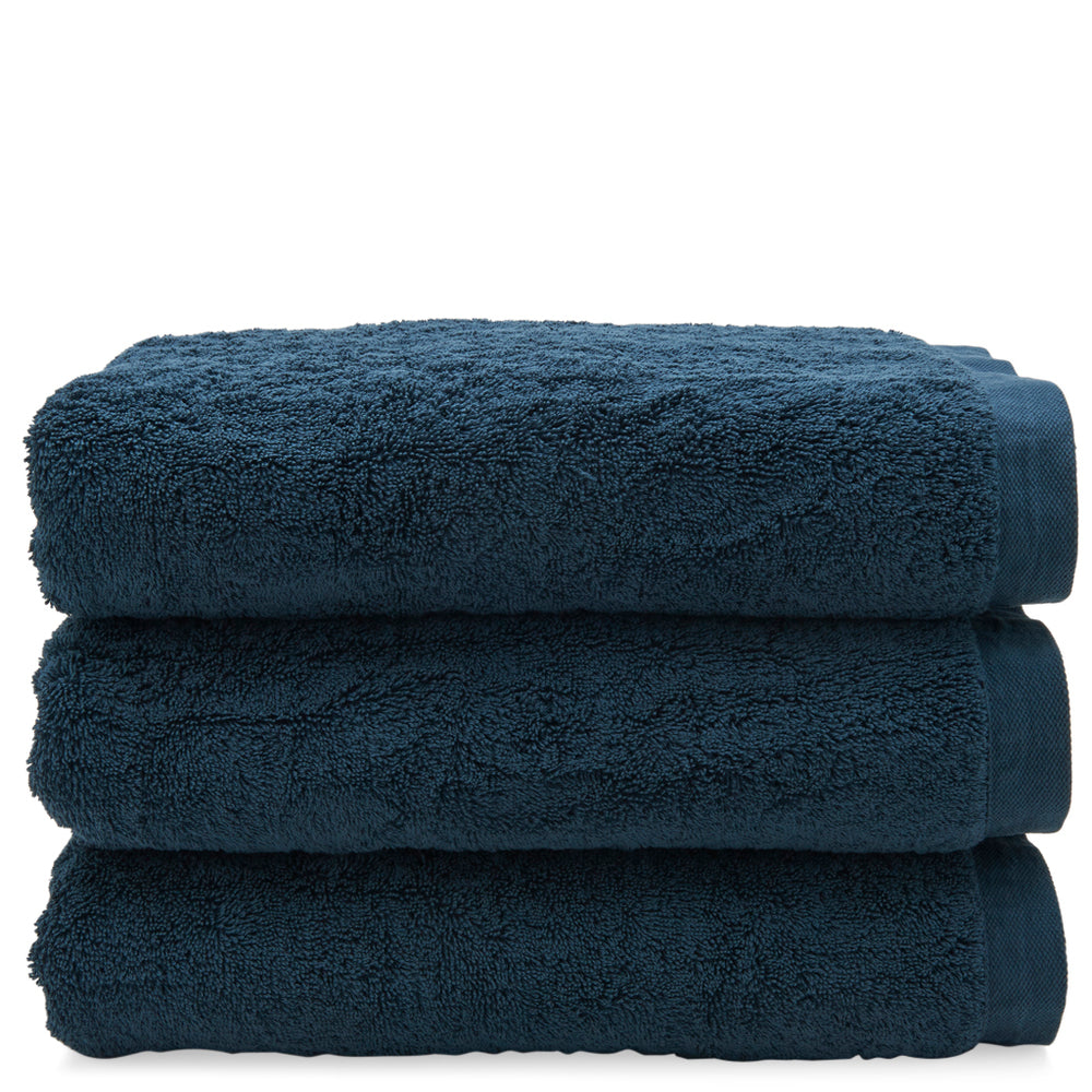 Waterworks Cumulus Terry Bath Towel in Deep Blue