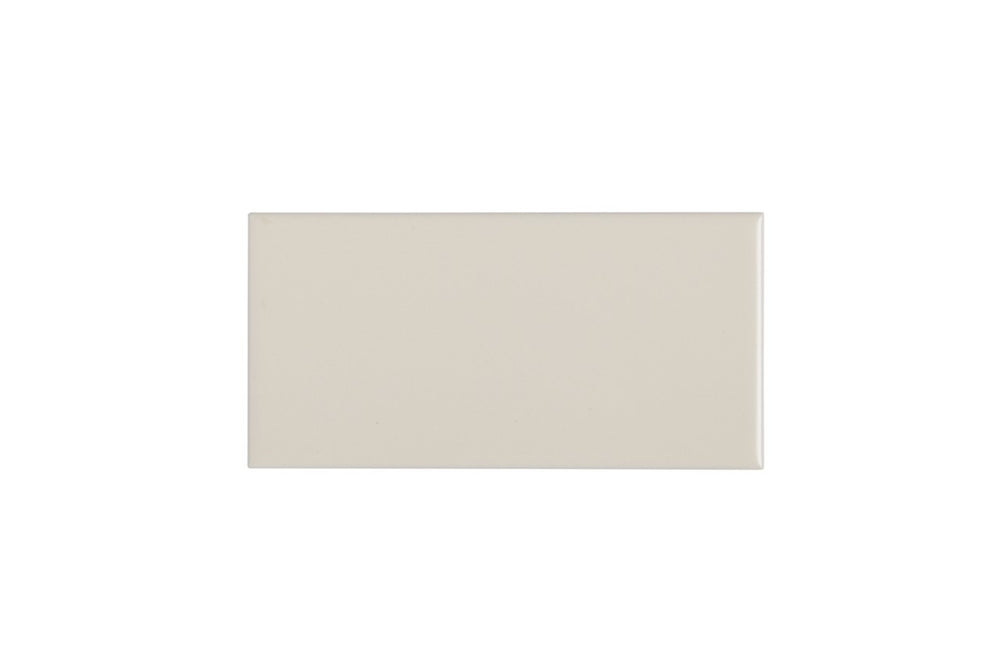 "Waterworks Campus Field Tile 3"" x 6"" Bullnose Single (Short) in Off White Matte"
