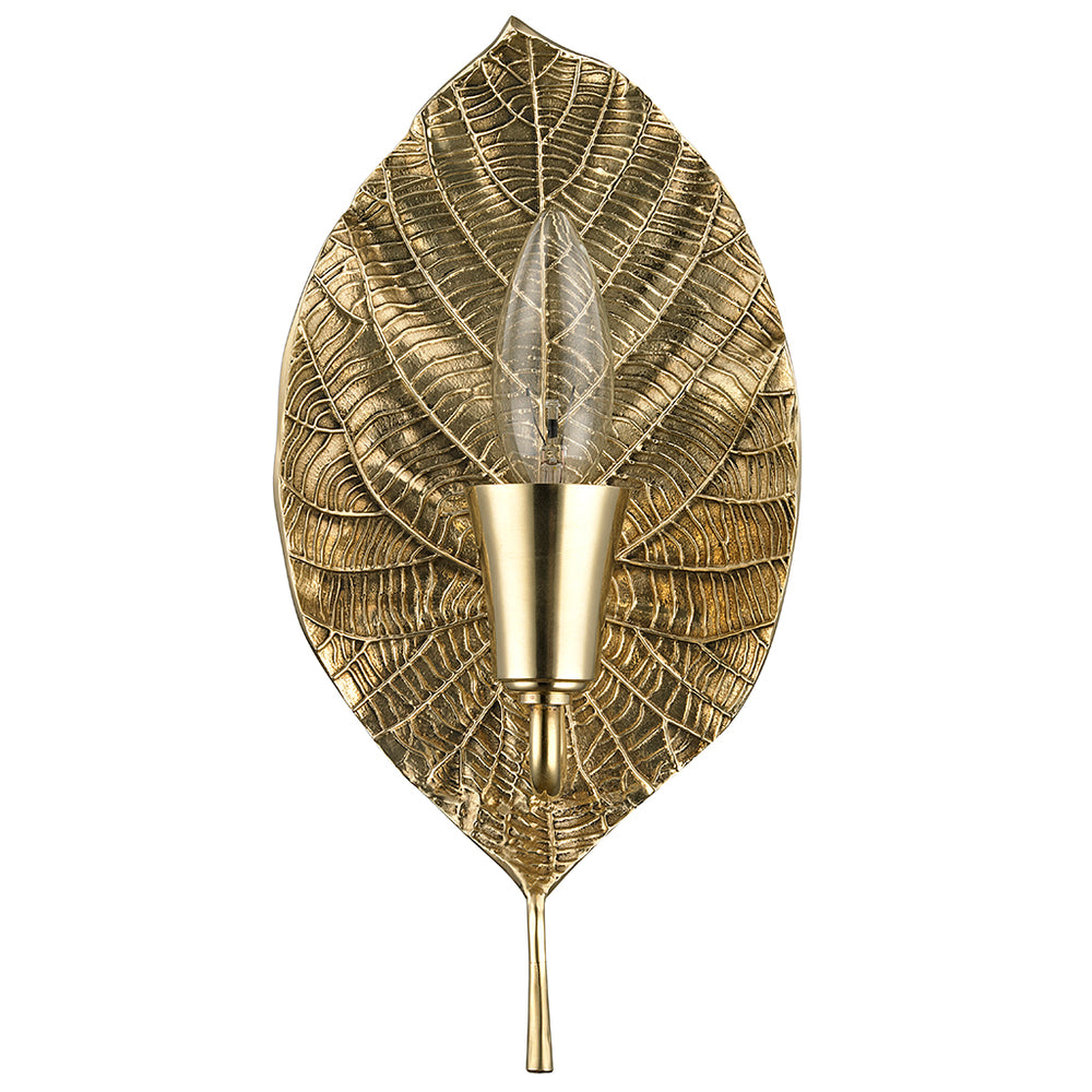 Waterworks Deska Wall Mounted Sconce in Unlacquered Brass